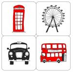 London Skyline set of 4 coasters
