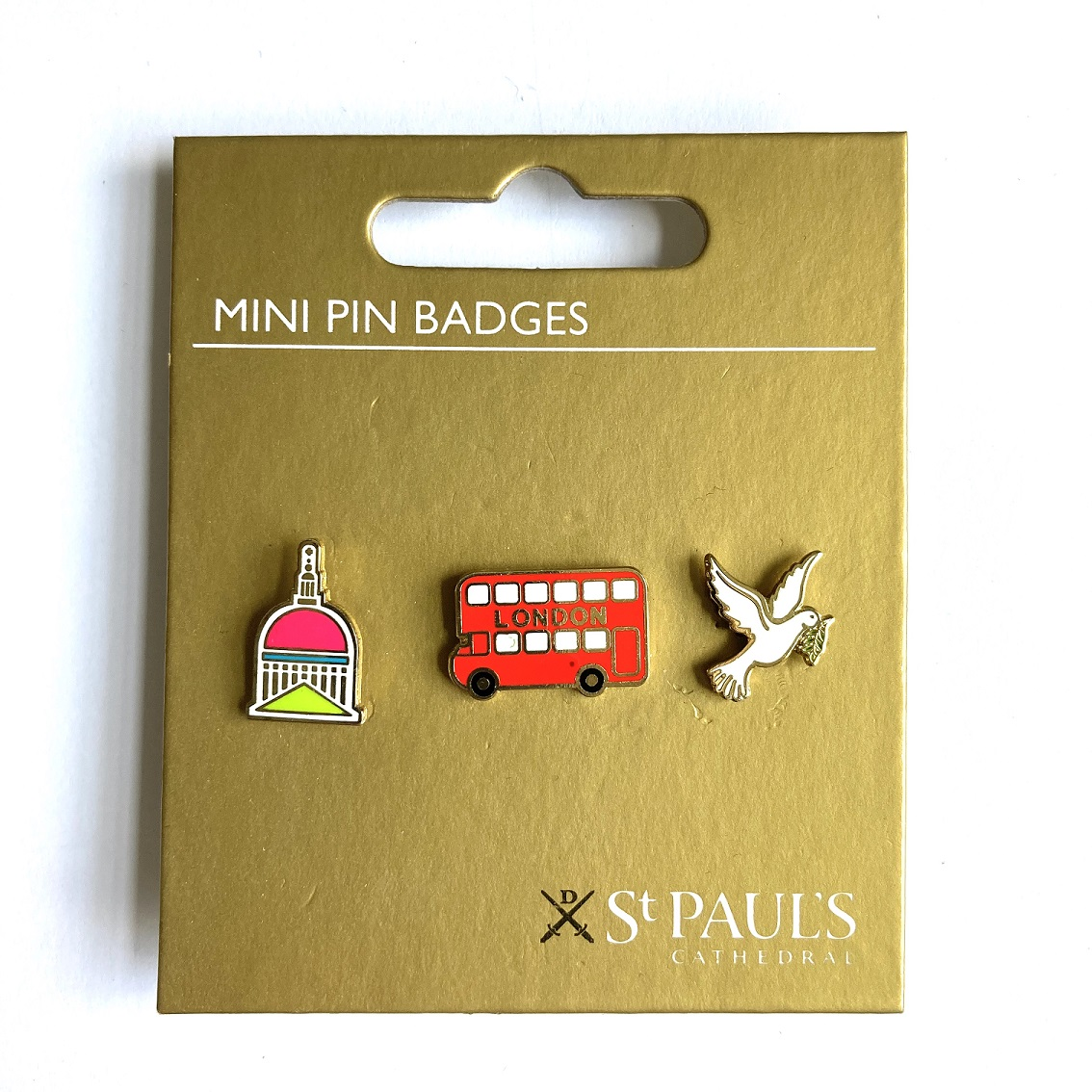 Set on mini St Paul's Cathedral pin badges